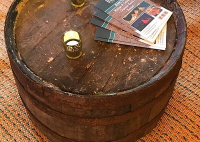 Half Whisky Barrel Coffee Table