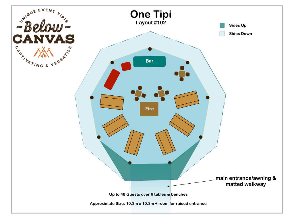 Below Canvas: Tipi One – Layout #2