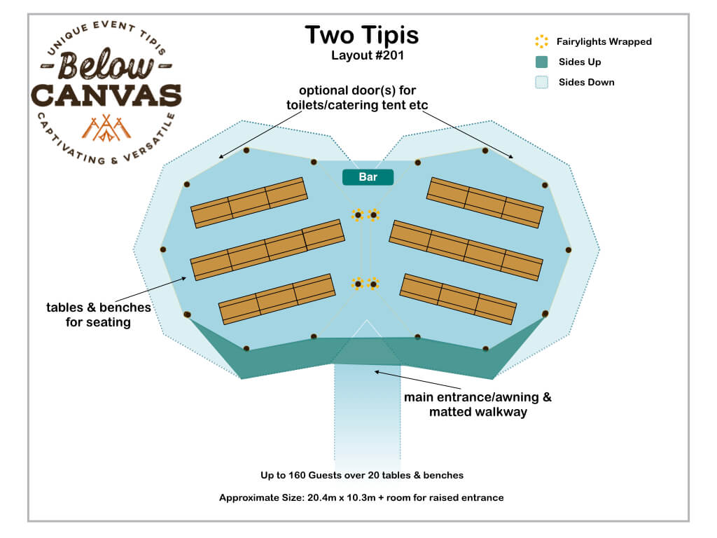 Below Canvas: Tipi Two –Layout #1