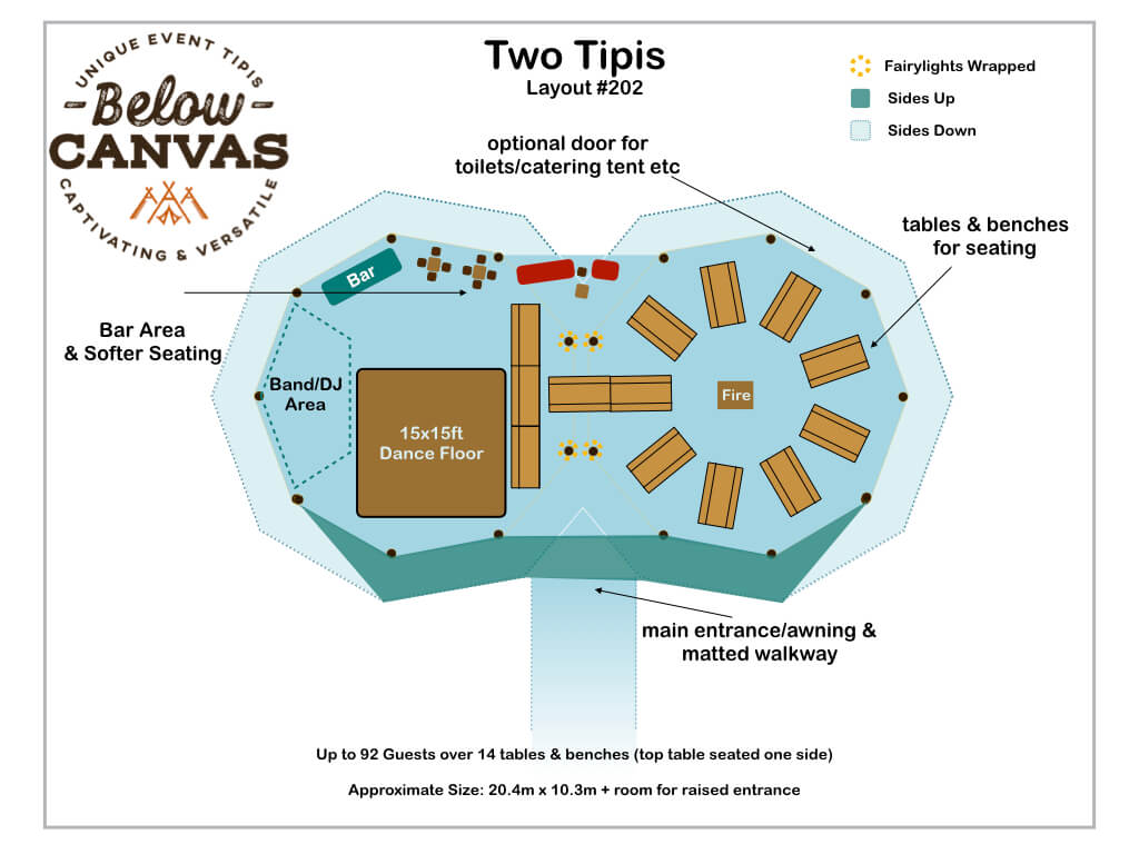 Below Canvas: Tipi Two –Layout #2