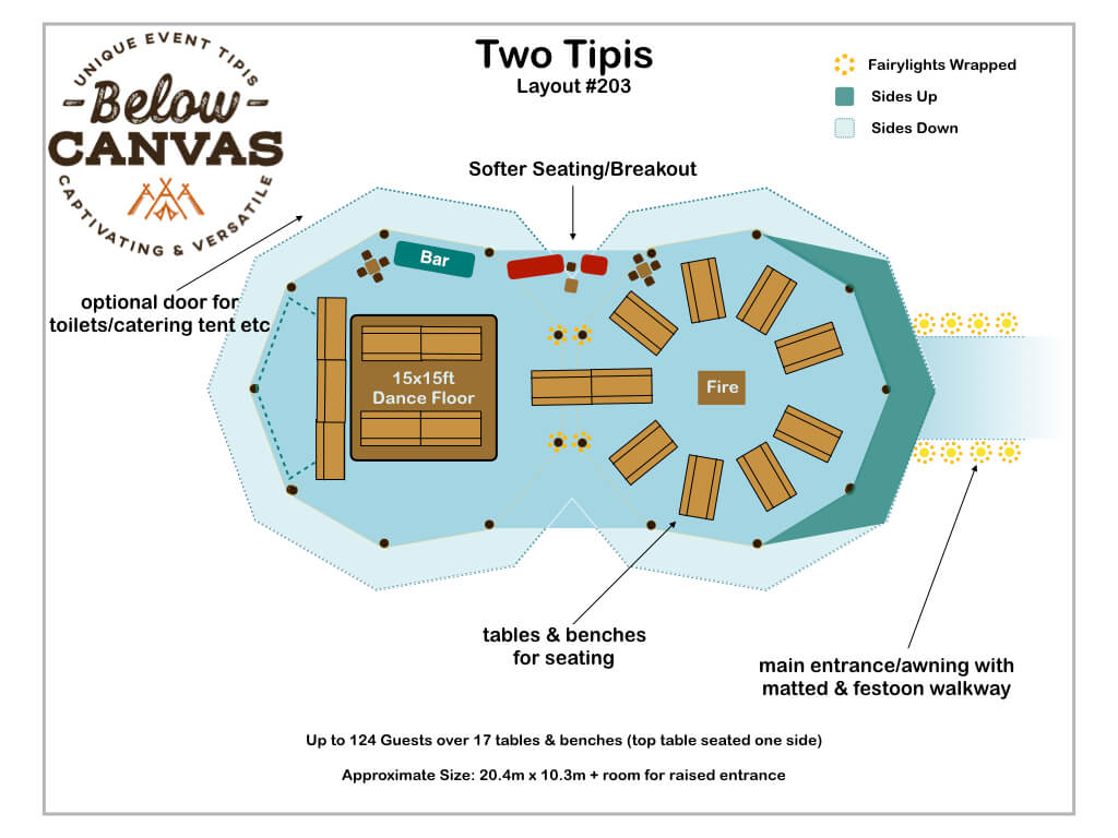 Below Canvas: Tipi Two –Layout #3
